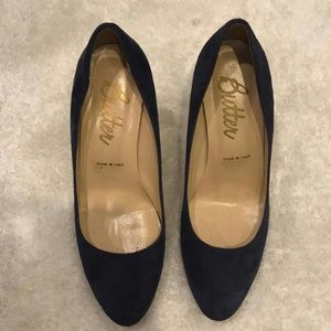 Butter Deep Royal Blue Onima Suede Pumps